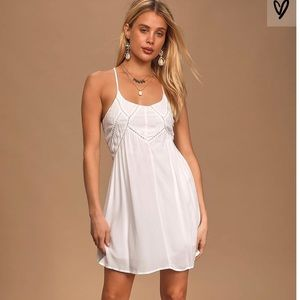 white lulus racerback slip dress